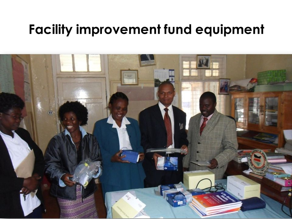 Facility improvement fund equipment