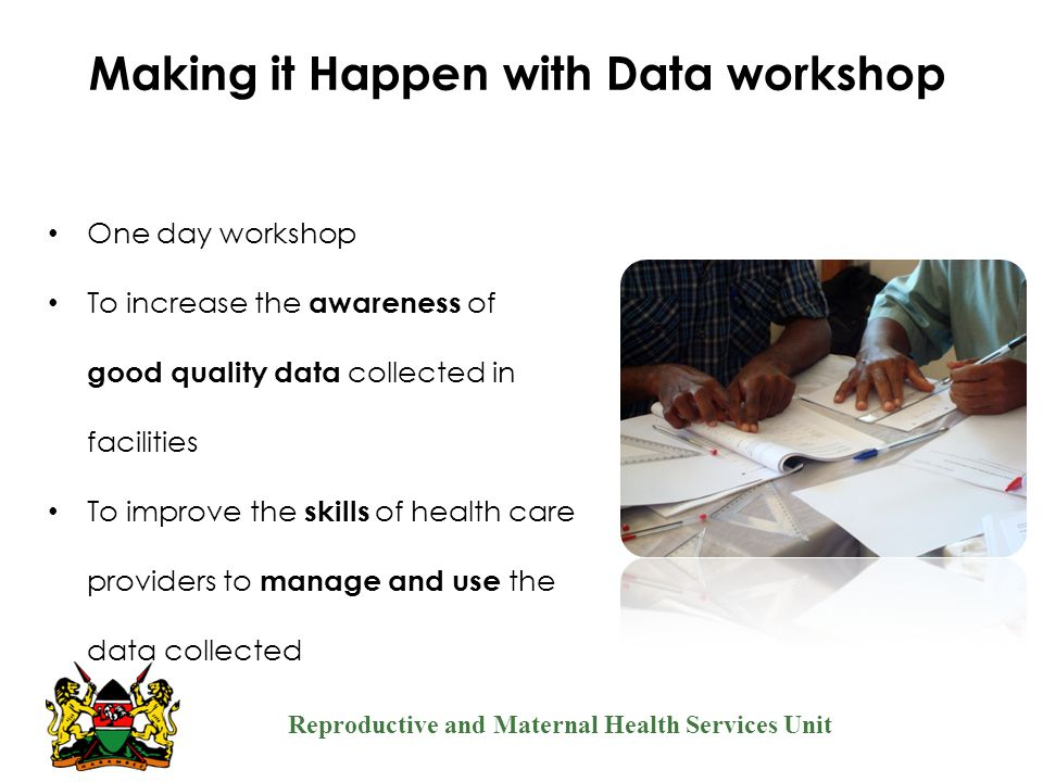 Making it Happen with Data workshop