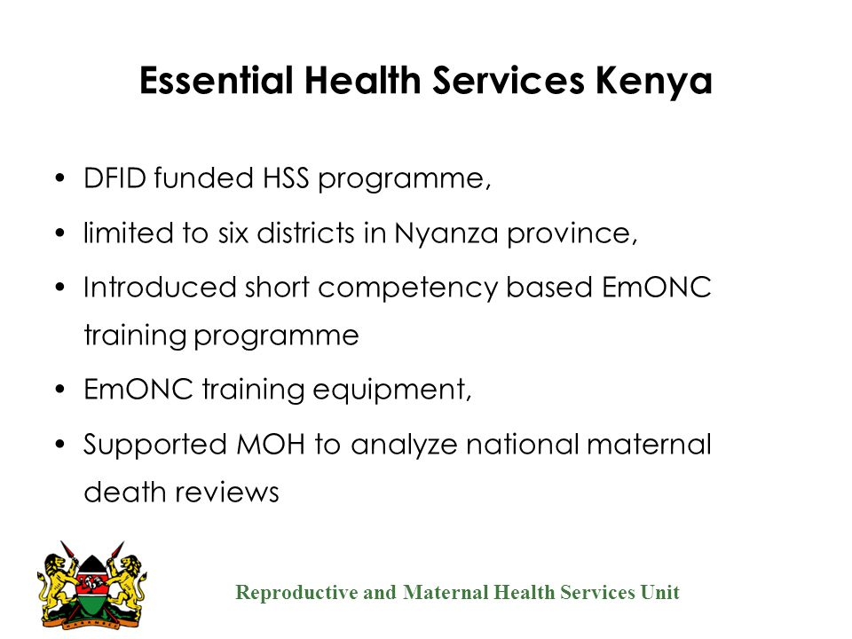 Essential Health Services Kenya