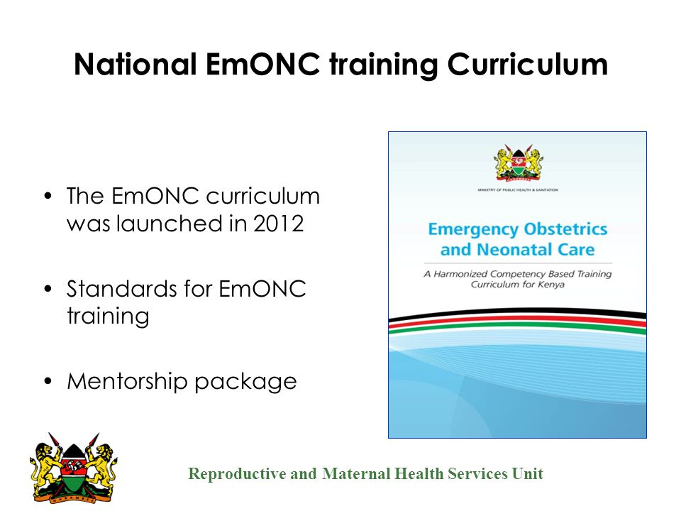 National EmONC training Curriculum