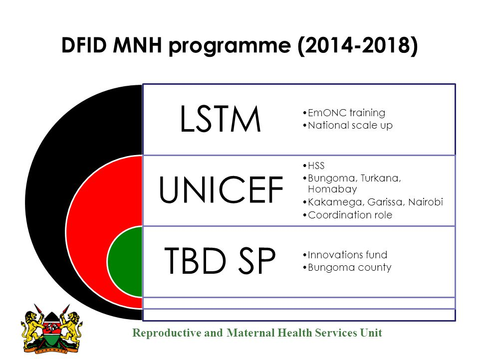 DFID MNH programme (2014-2018) Management oversight role LSTM
