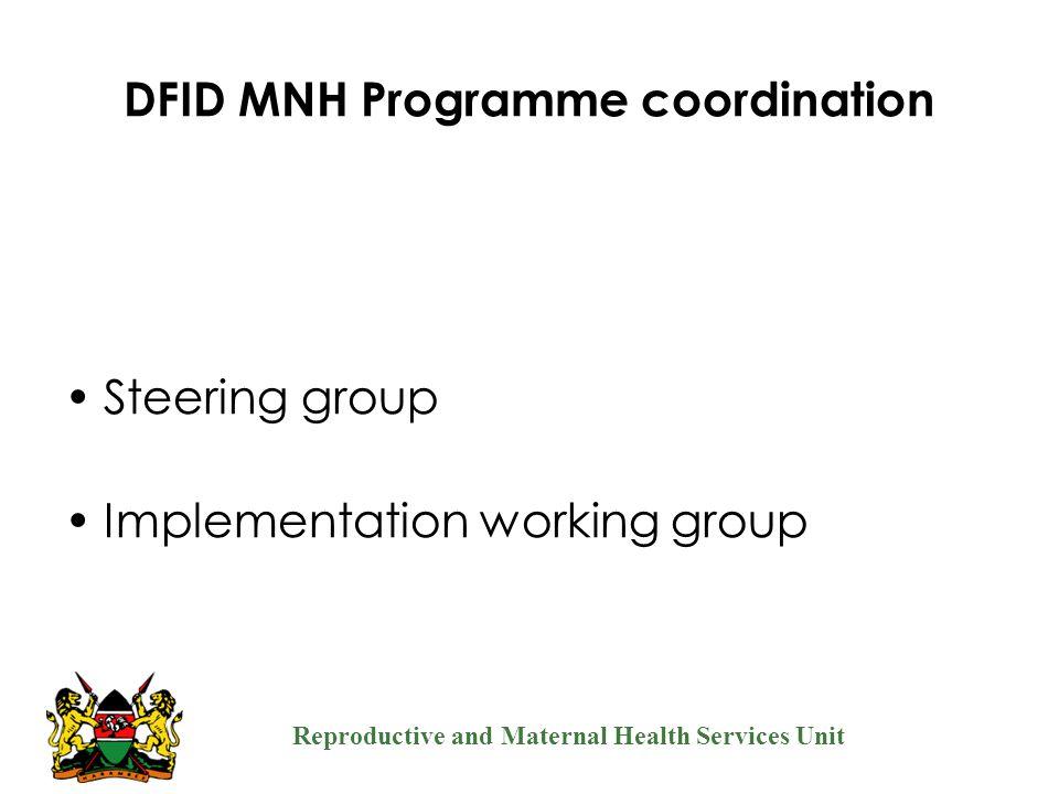 DFID MNH Programme coordination
