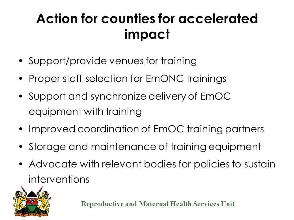 Action for counties for accelerated impact