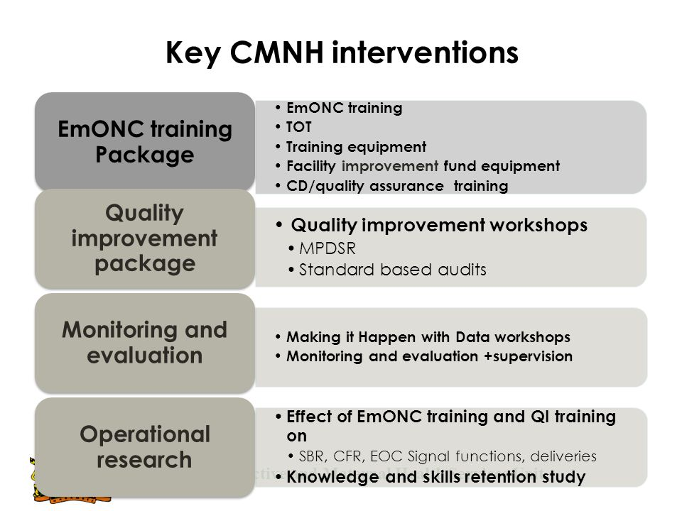 Key CMNH interventions
