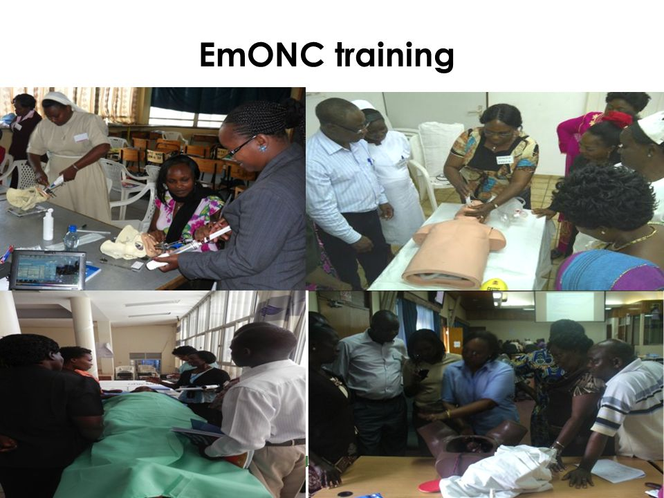 EmONC training Great emphasis on acquiring skills through repetition and in hands-on practice Based on the 'Behaviorist approach' to learning.