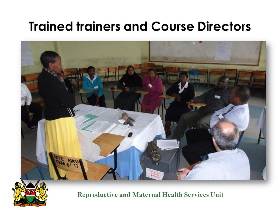 Trained trainers and Course Directors