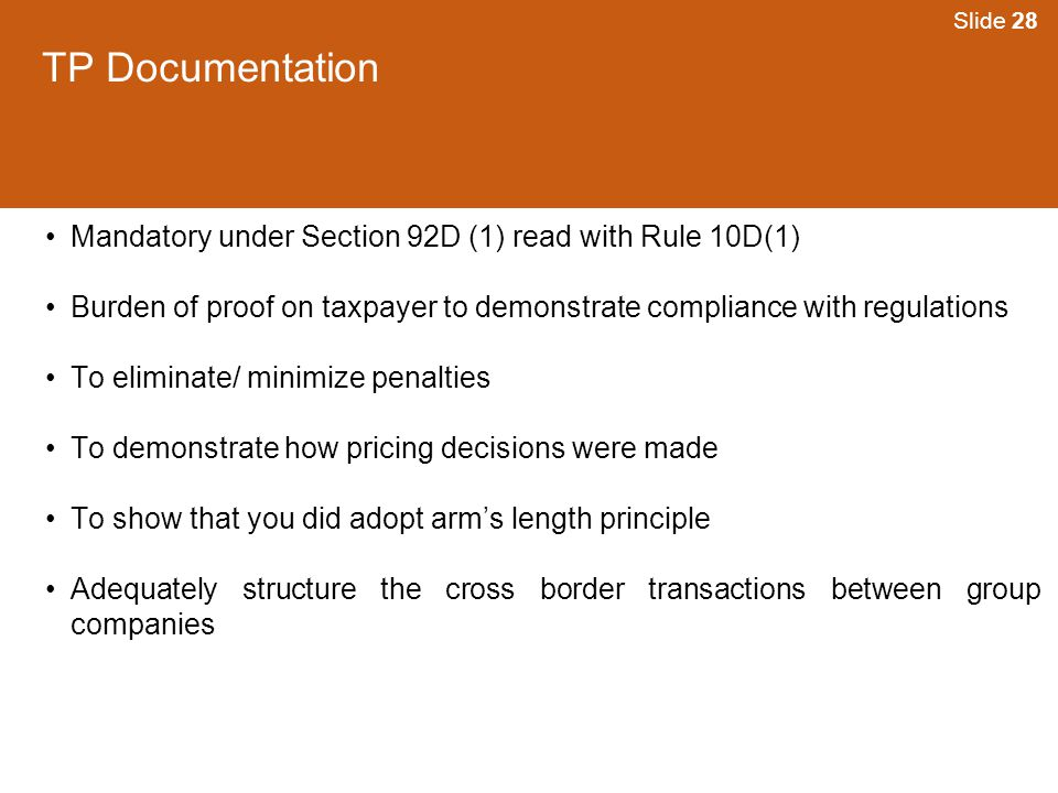 TP Documentation Mandatory under Section 92D (1) read with Rule 10D(1)