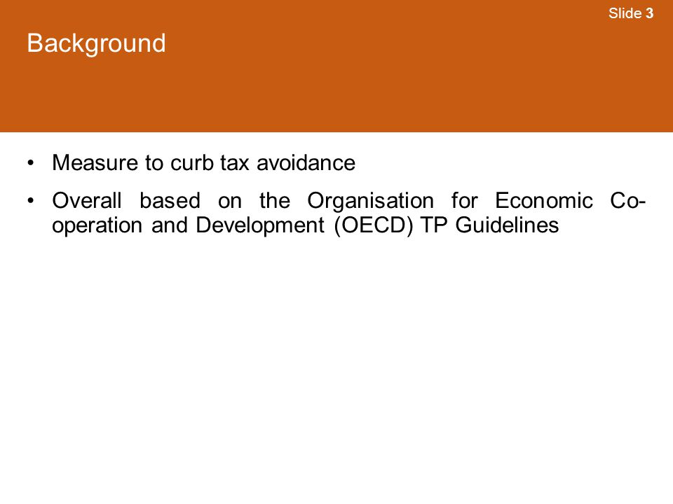 Background Measure to curb tax avoidance