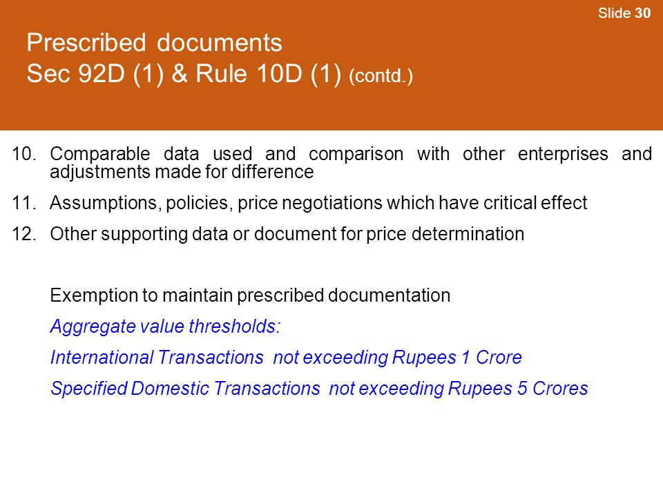 Prescribed documents Sec 92D (1) & Rule 10D (1) (contd.)