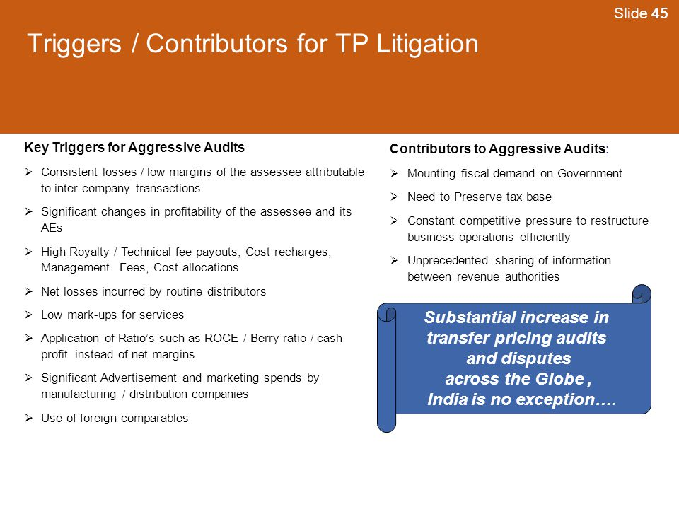 Triggers / Contributors for TP Litigation
