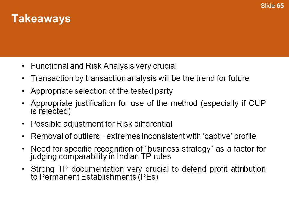 Takeaways Functional and Risk Analysis very crucial