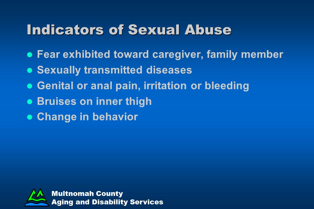 Indicators of Sexual Abuse