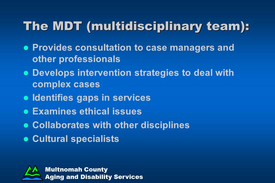 The MDT (multidisciplinary team):
