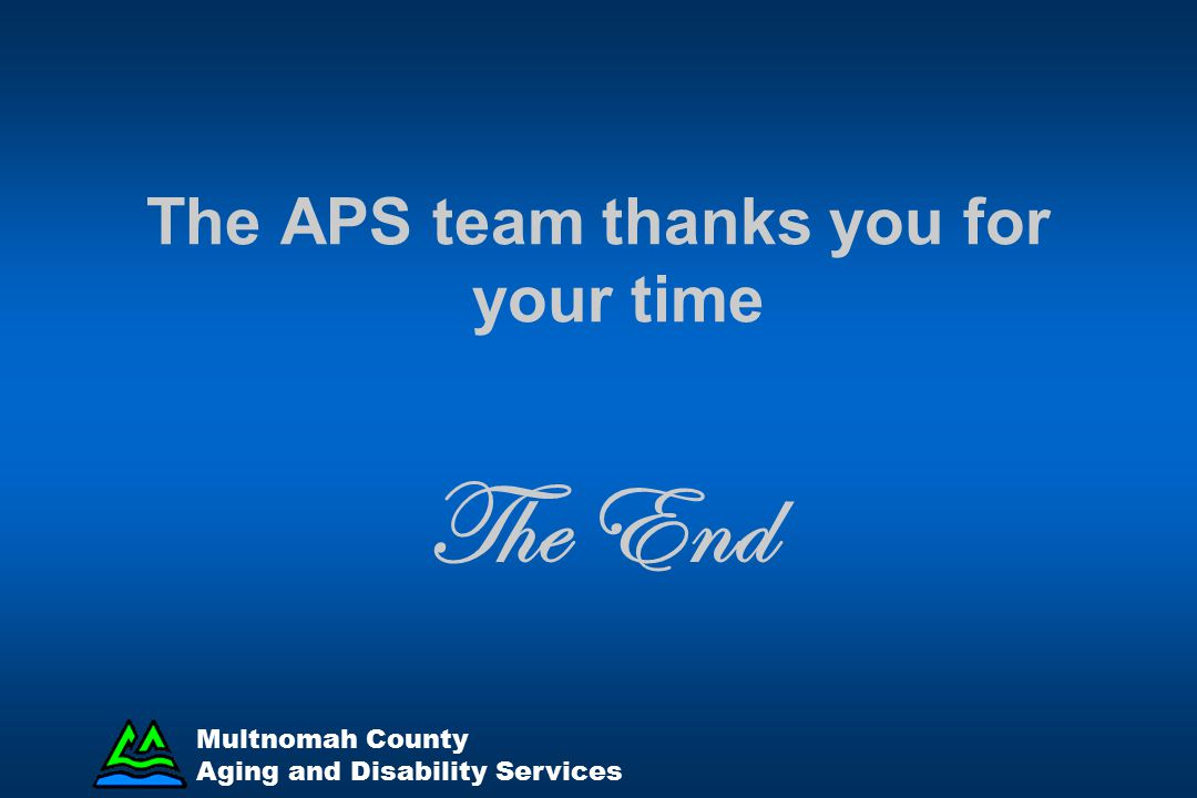 The APS team thanks you for your time