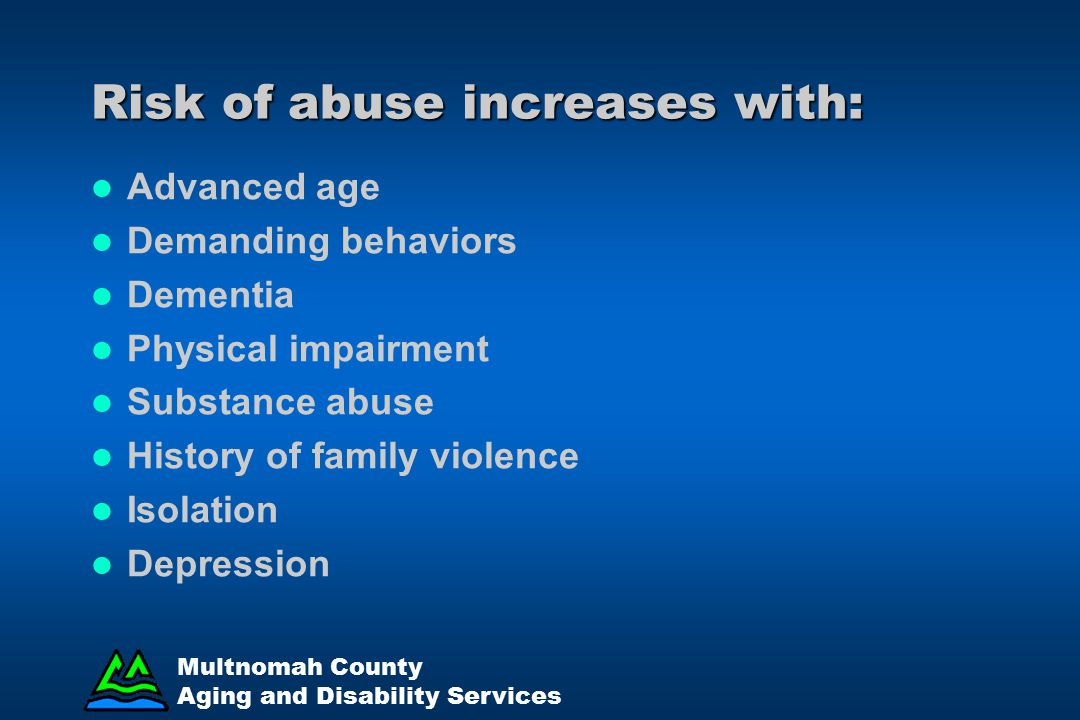 Risk of abuse increases with: