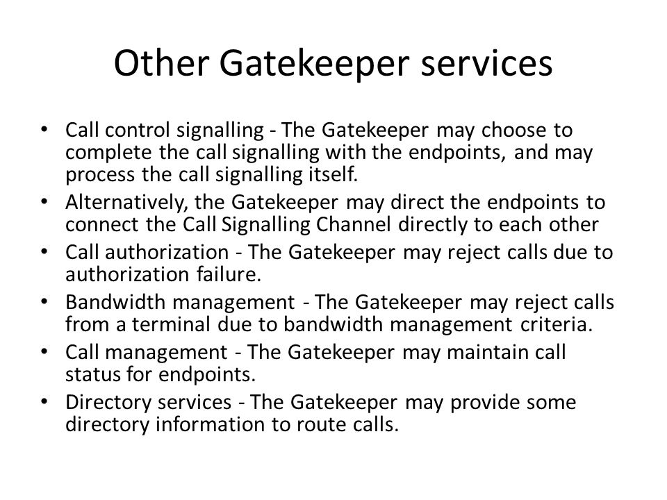 Other Gatekeeper services
