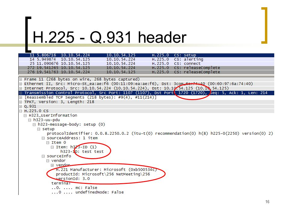 H.225 - Q.931 header