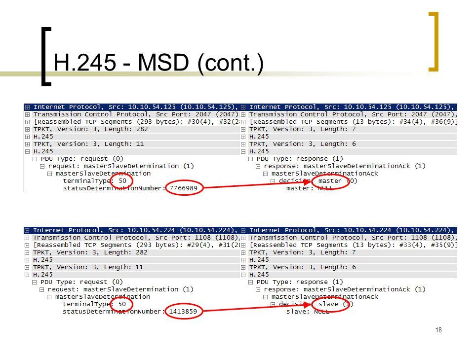 H.245 - MSD (cont.)