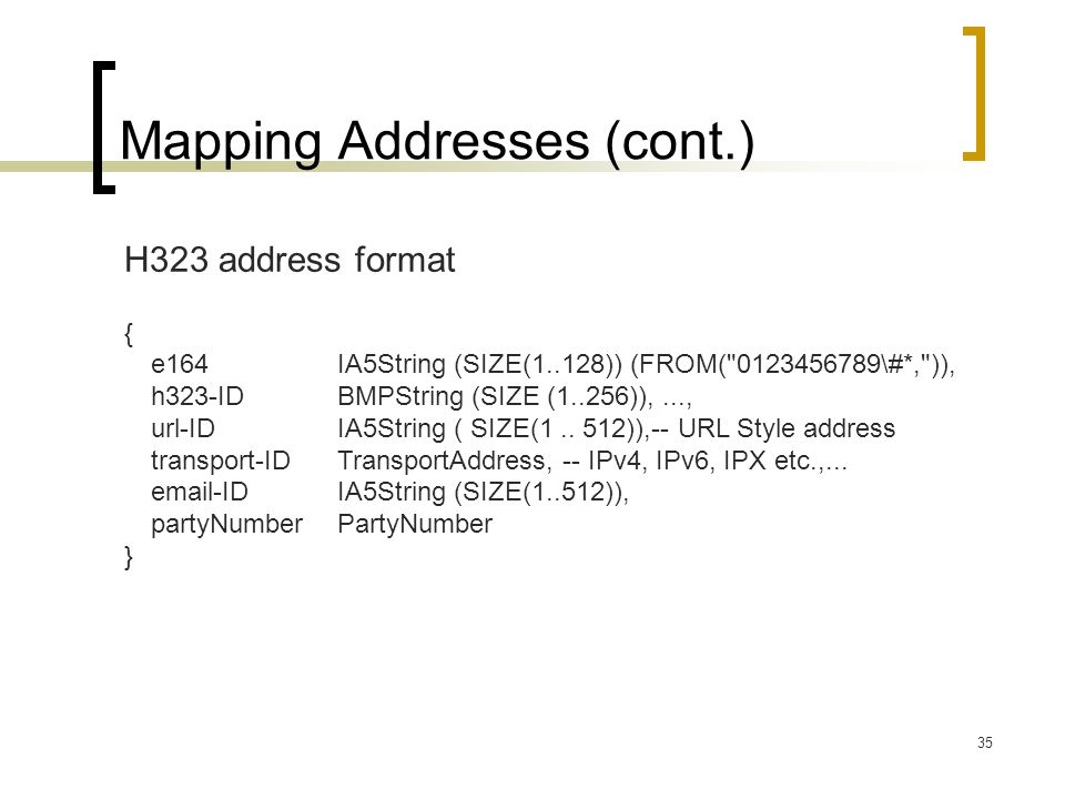 Mapping Addresses (cont.)
