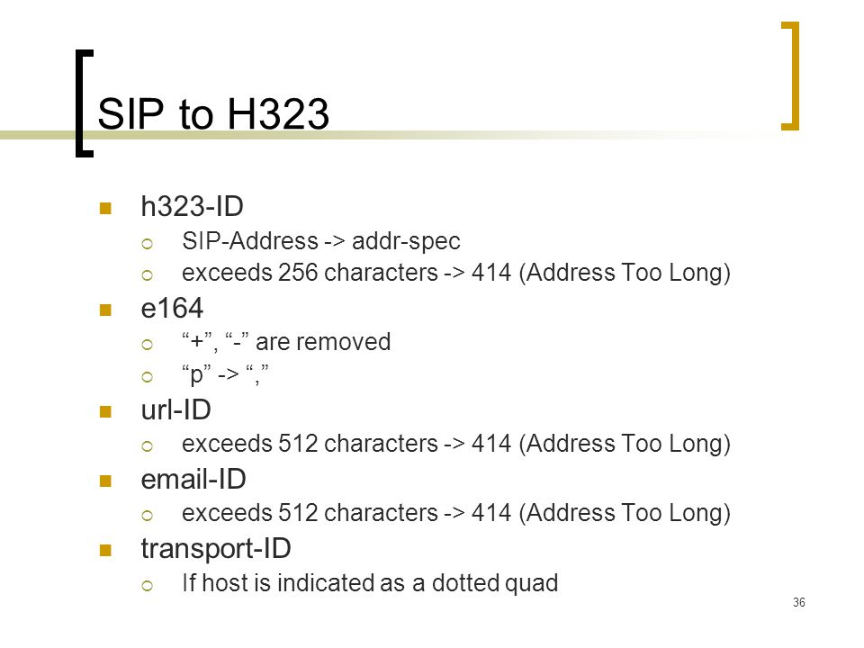 SIP to H323 h323-ID e164 url-ID email-ID transport-ID