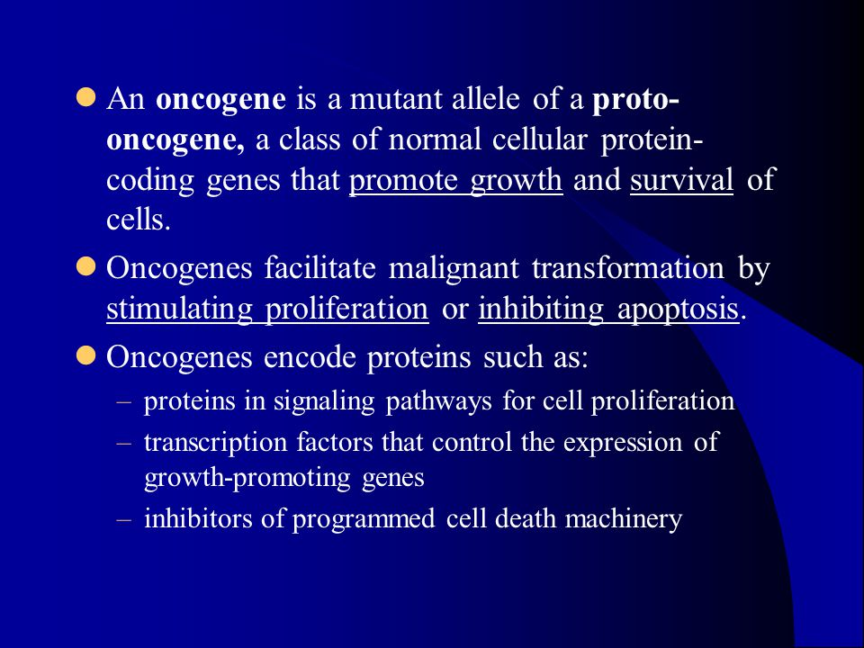 Oncogenes encode proteins such as: