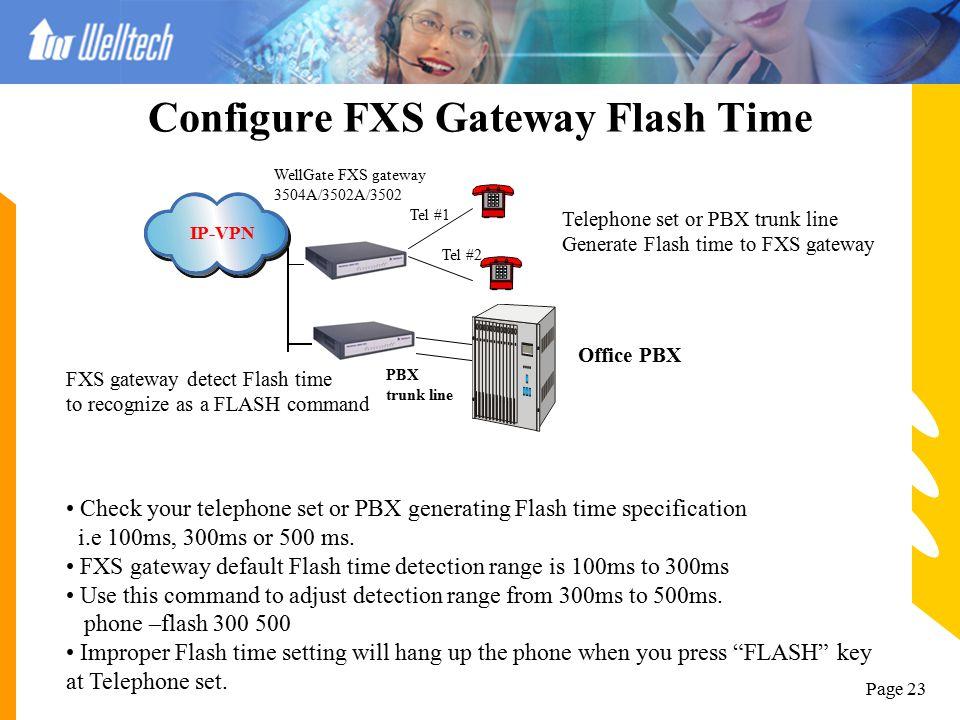 Configure FXS Gateway Flash Time