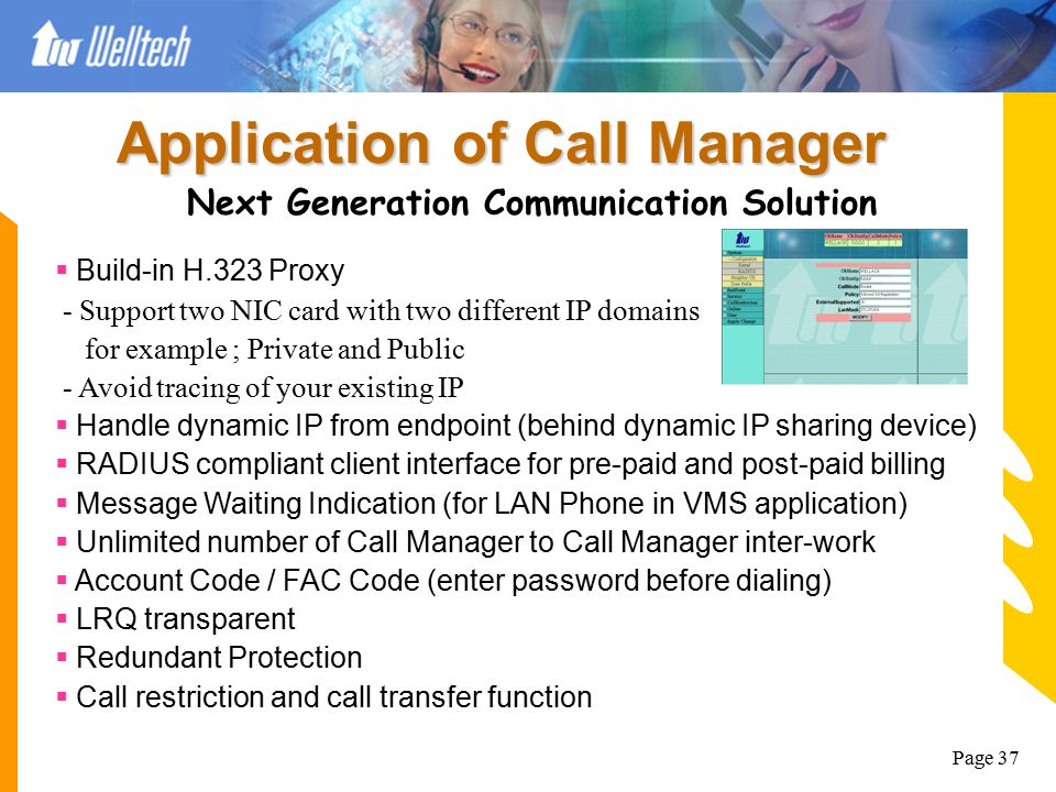 Application of Call Manager