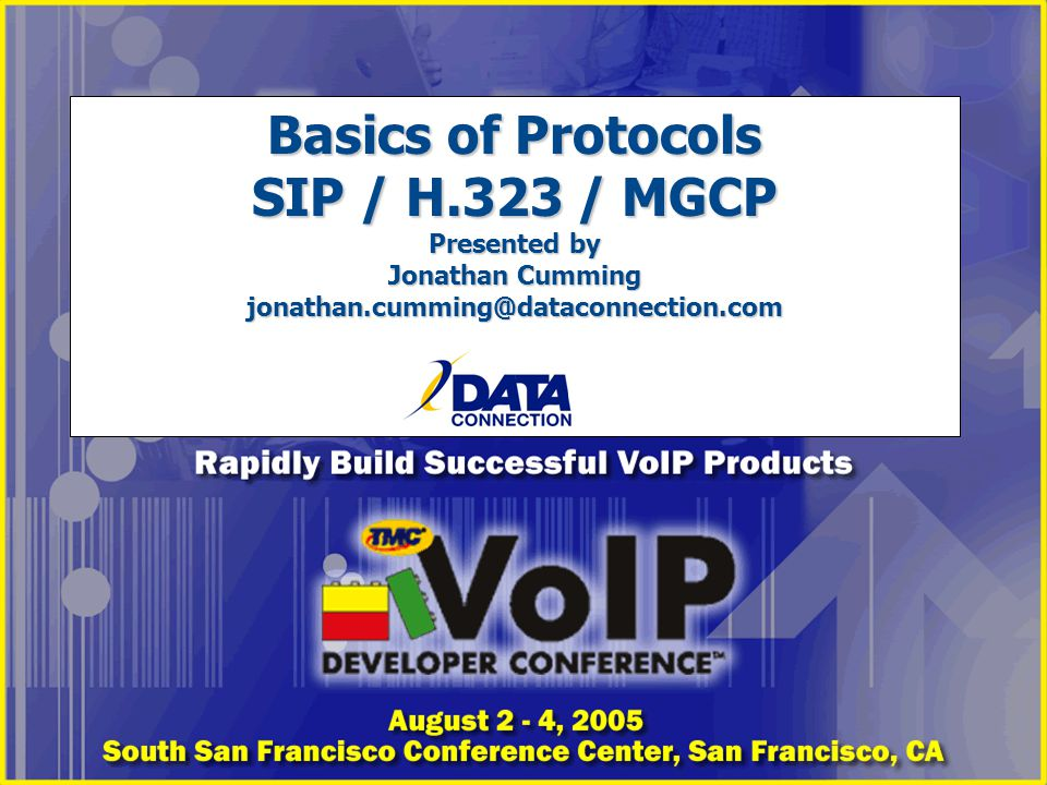 Basics of Protocols SIP / H
