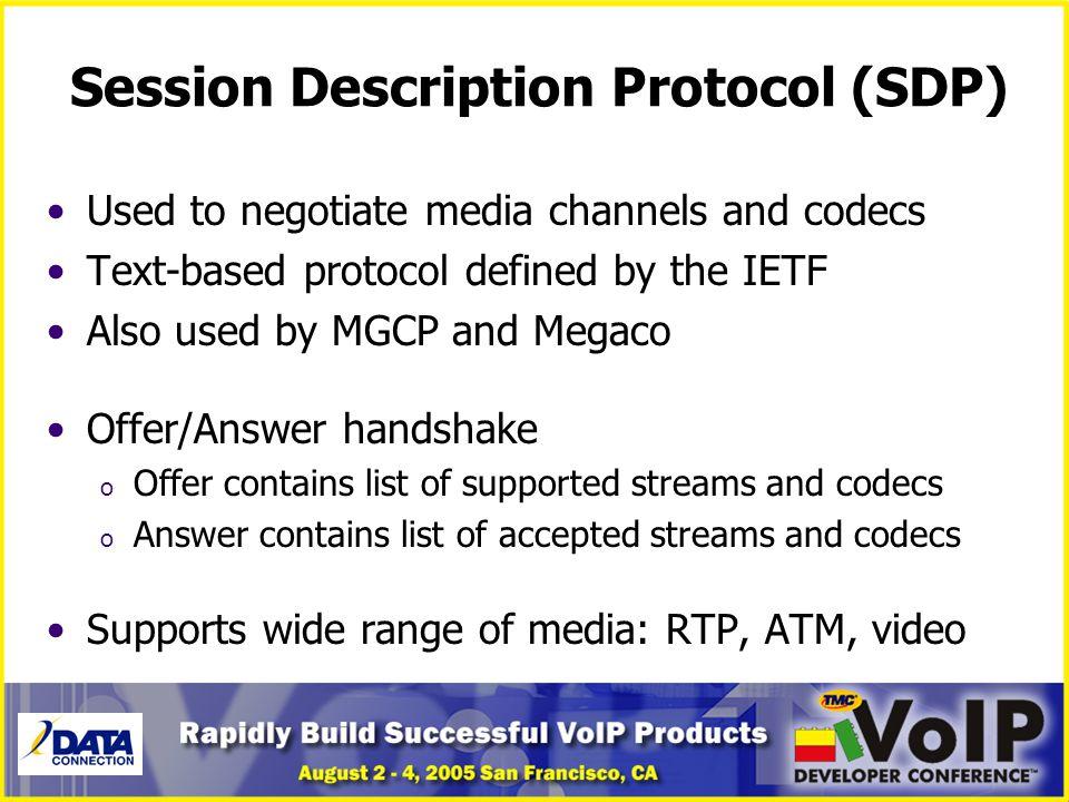 Session Description Protocol (SDP)