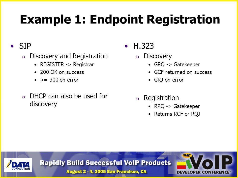 Example 1: Endpoint Registration