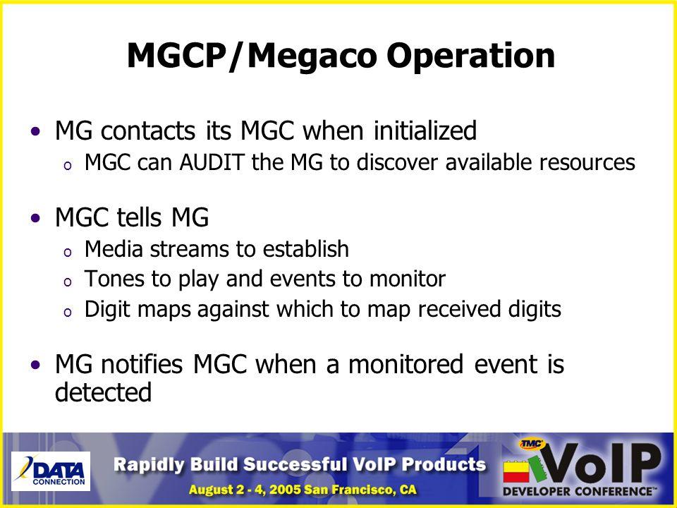 MGCP/Megaco Operation