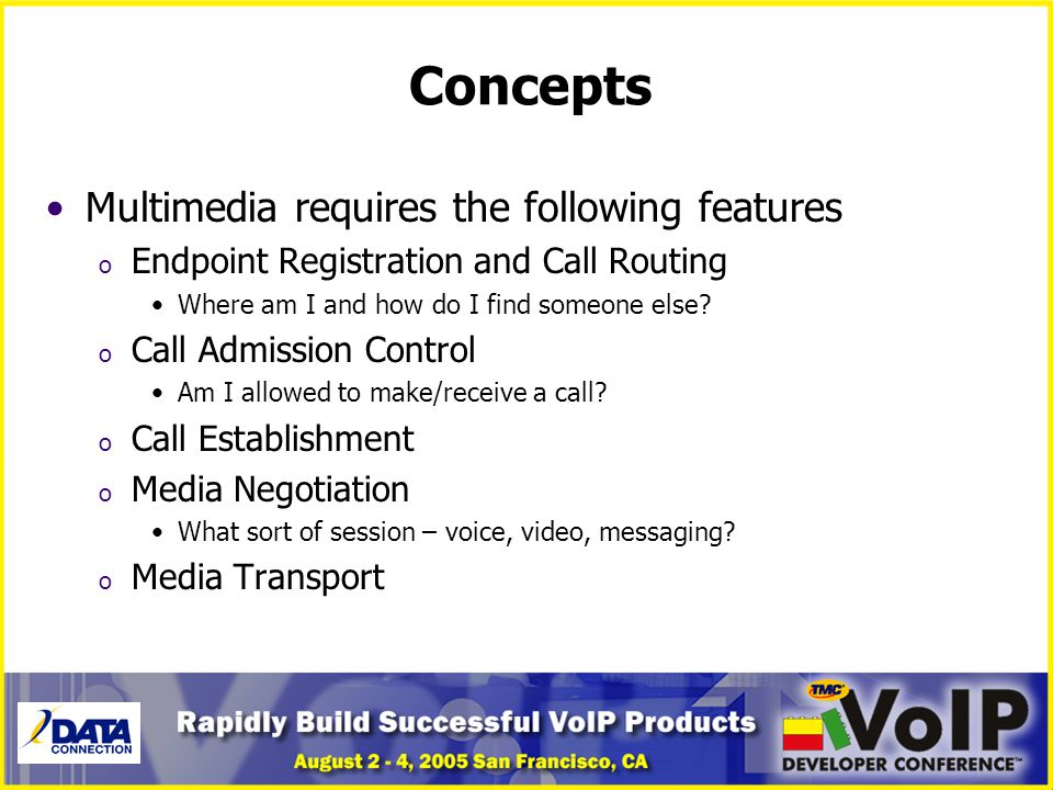 Concepts Multimedia requires the following features