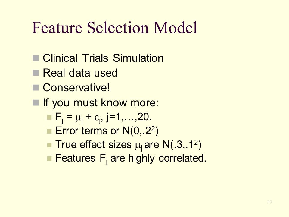 Feature Selection Model