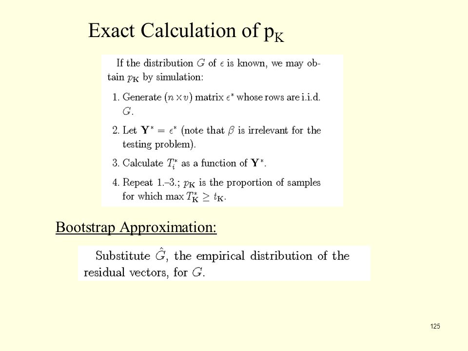 Exact Calculation of pK