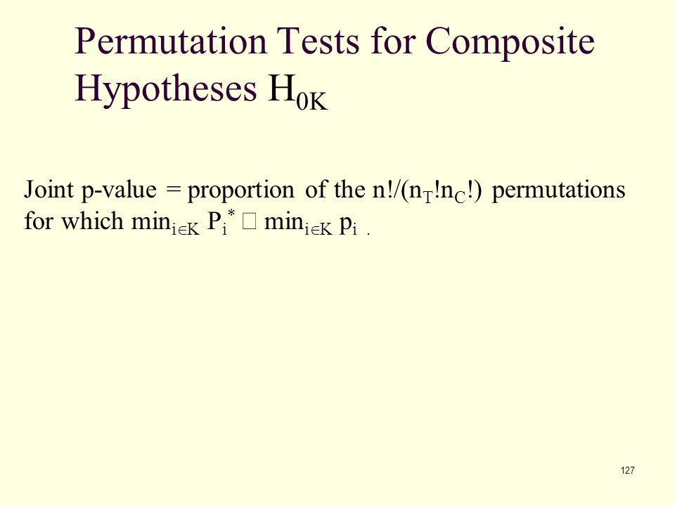 Permutation Tests for Composite Hypotheses H0K