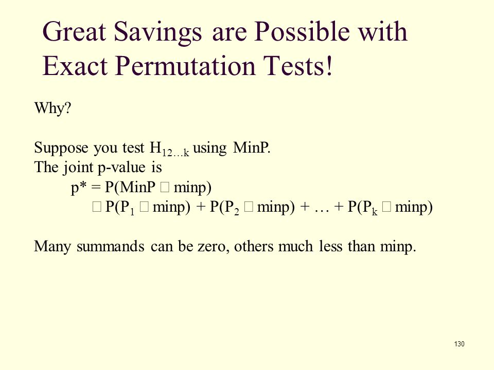 Great Savings are Possible with Exact Permutation Tests!