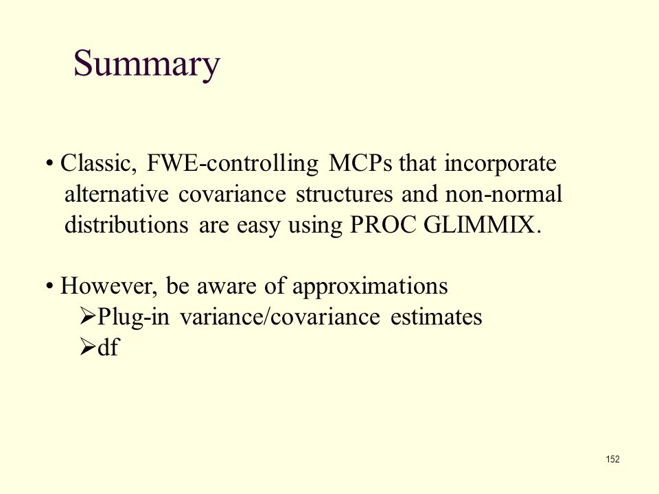 Summary Classic, FWE-controlling MCPs that incorporate