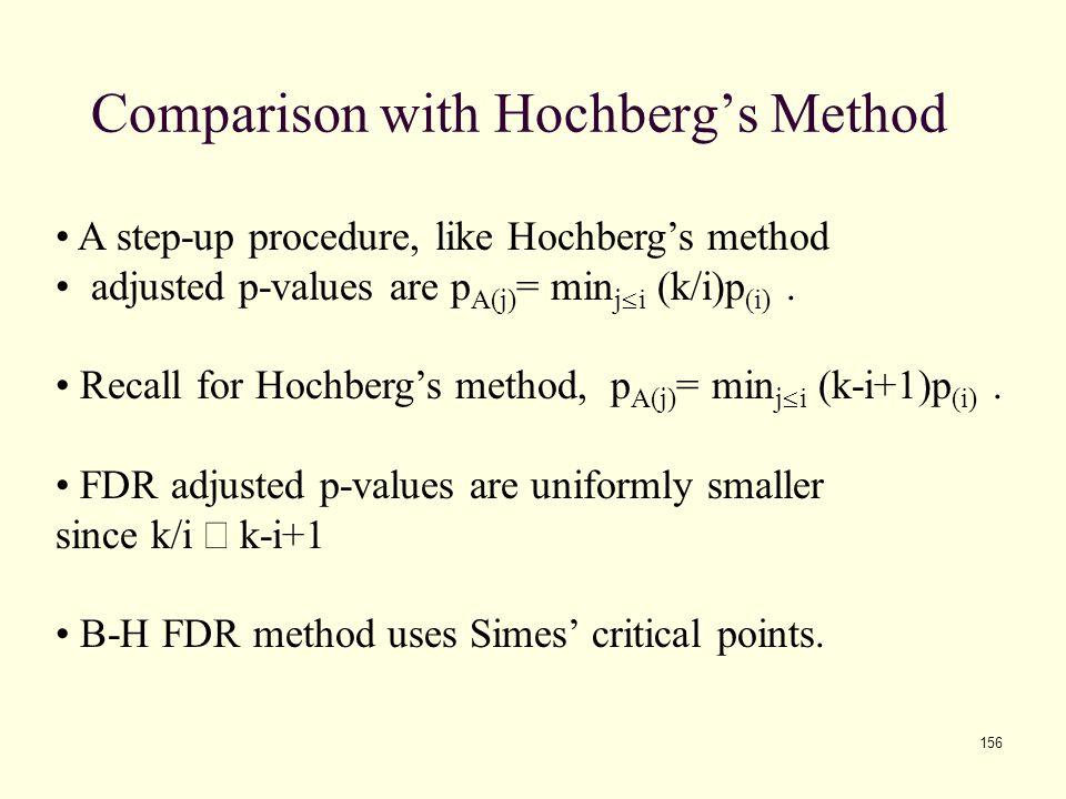 Comparison with Hochberg's Method