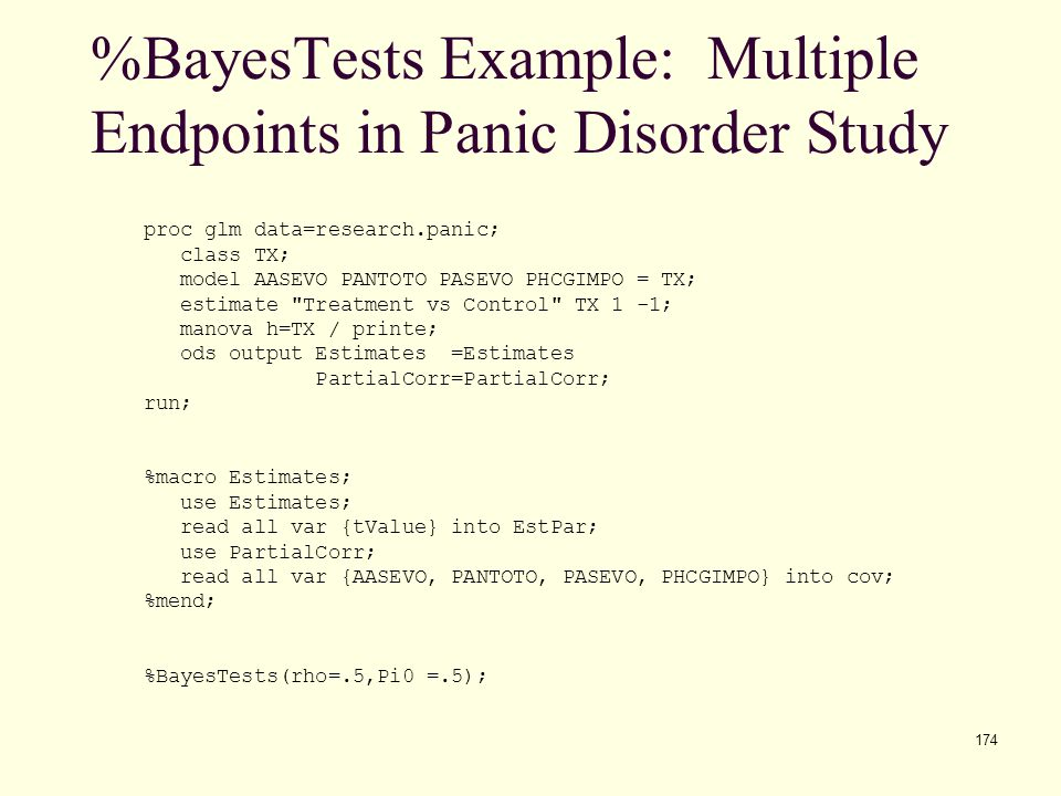 %BayesTests Example: Multiple Endpoints in Panic Disorder Study