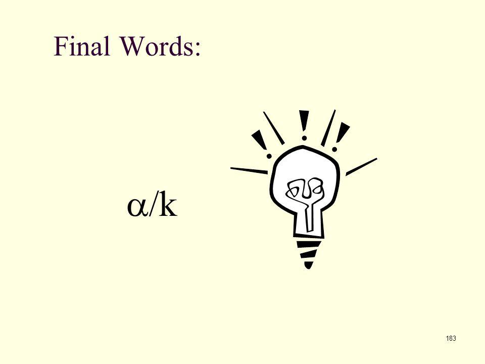 Final Words: a/k
