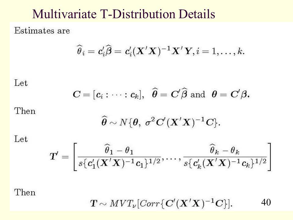 Multivariate T-Distribution Details
