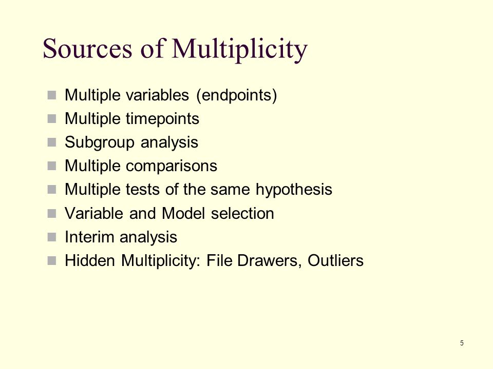 Sources of Multiplicity