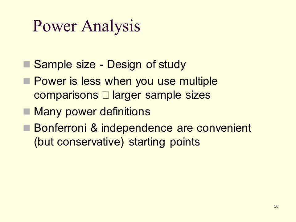 Power Analysis Sample size - Design of study