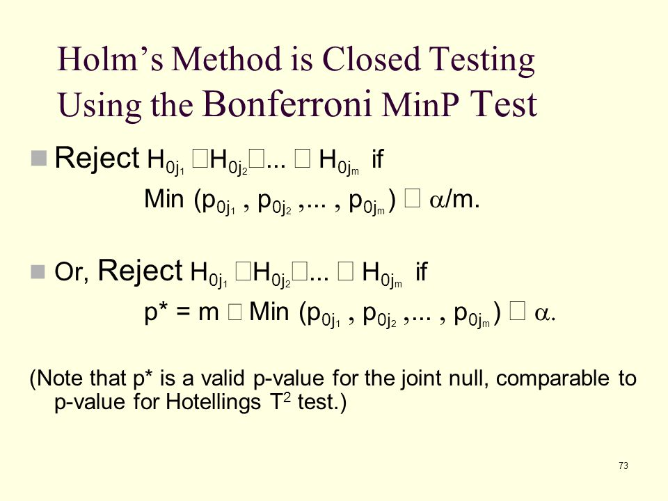 Holm's Method is Closed Testing Using the Bonferroni MinP Test