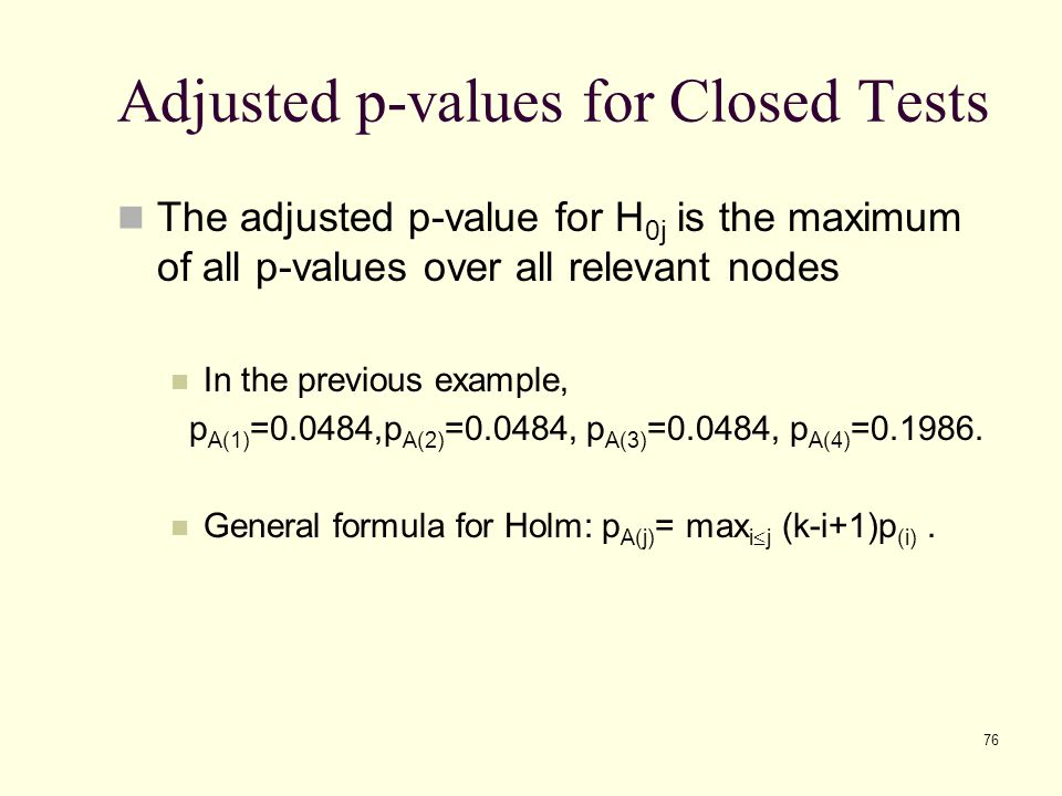 Adjusted p-values for Closed Tests