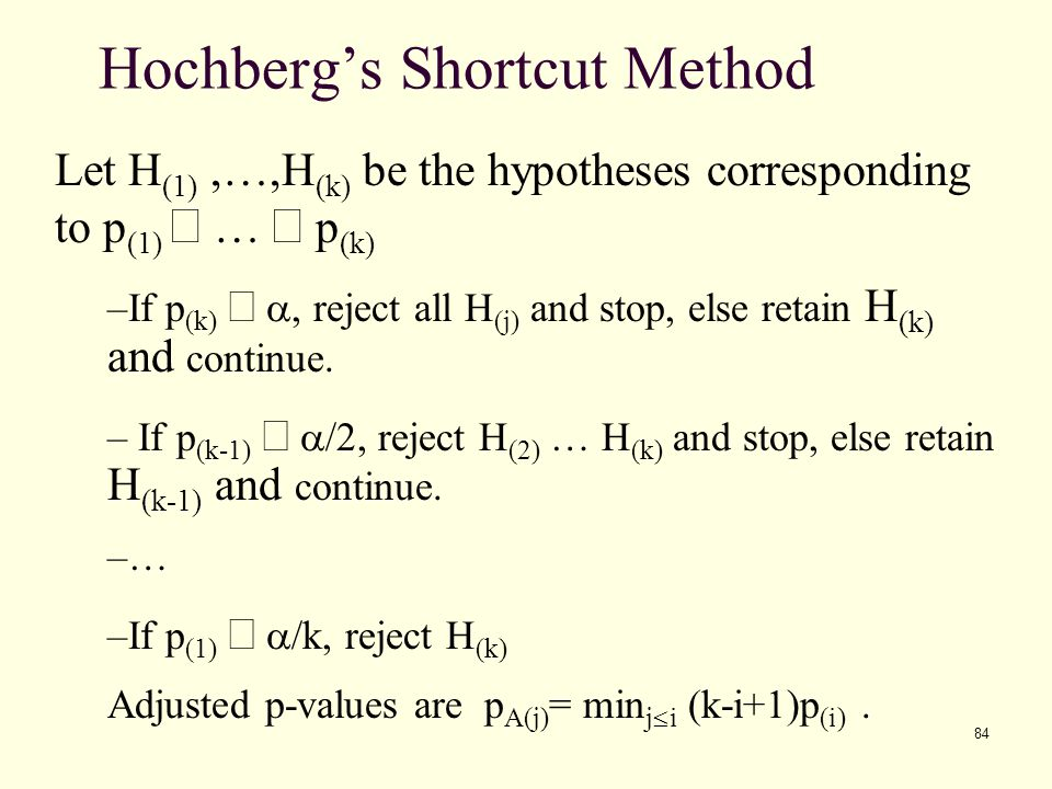 Hochberg's Shortcut Method