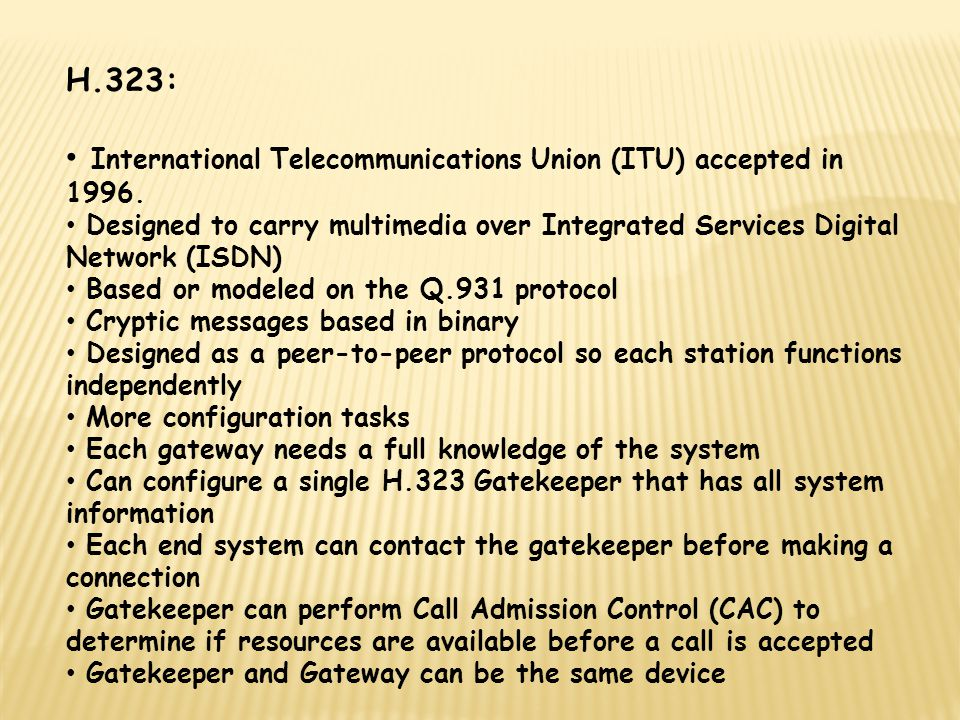 International Telecommunications Union (ITU) accepted in 1996.