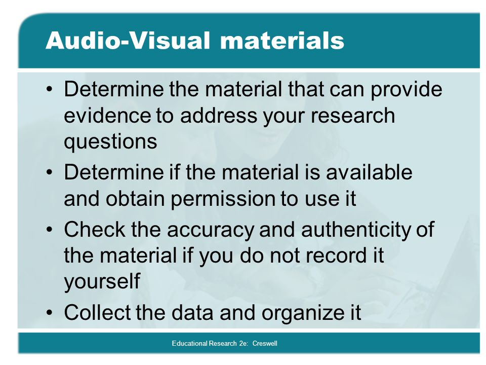 Audio-Visual materials