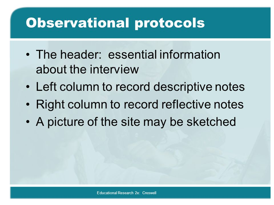 Observational protocols