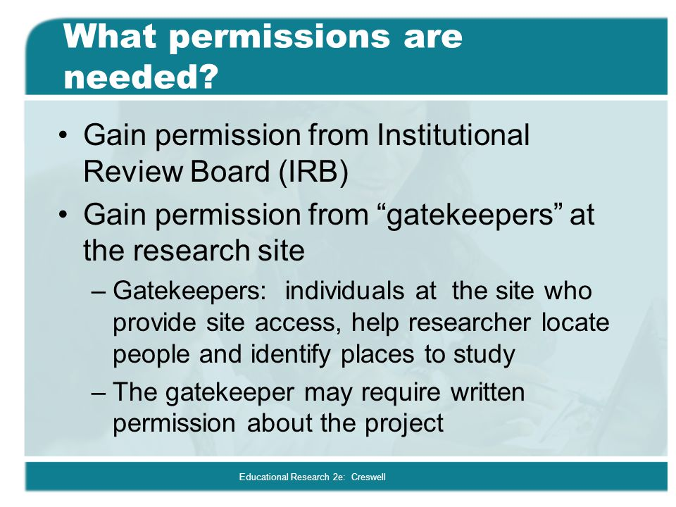 What permissions are needed